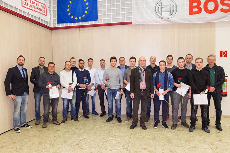 Die Abschlussfeier der diplomierten und ausgezeichneten Schüler fand am 02.02.2017 in der Siegfried Marcus Berufsschule statt.