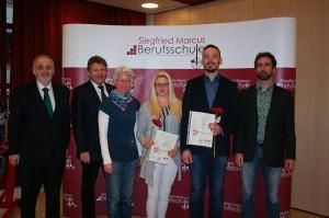 Diplome des Stadtschulrates im Bereich Kraftfahrzeugtechnik erhielten:Krieger Jacquelin (BMW Austria) und Wesjak Alexander (C.H.Autoservice Oberlaa)