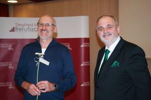 BOL Ing. Mag. Lorenz Schertler (BS KFT Abteilungsleiter 2-rad Technik) und BD OSR Dipl.-Päd. Markus Fuchs