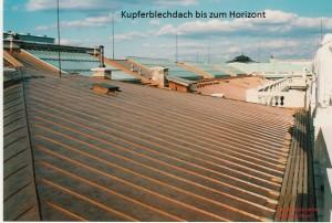 Kupferblechdach bis zum Horizont
