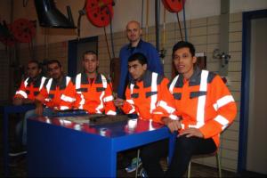 Junge Flüchtlinge bei der Basisausbildung